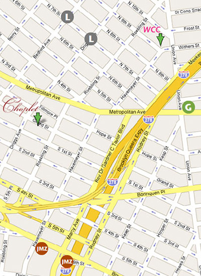 Directions for Choplet Gallery & Ceramic Studio
