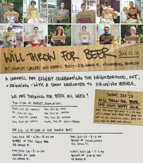 Past Shows: Will Throw for Beer Group Show