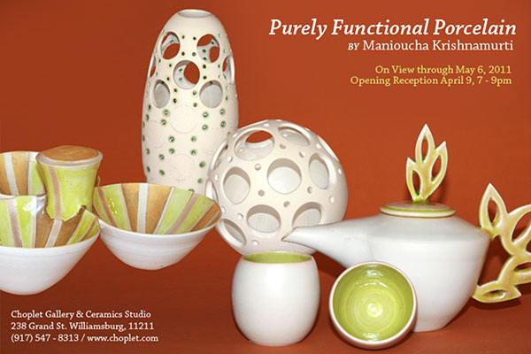 Past Shows: Purely Functional Porcelain by Manioucha Krishnamurti