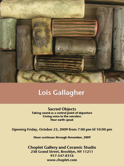 Past Shows: Sacred Objects by Lois Gallagher