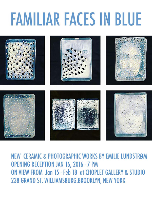 Past Shows 2016: Faces in Blue by Emilie Lundstrom