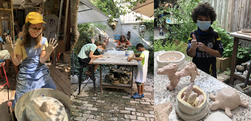 after school kids pottery ceramic program