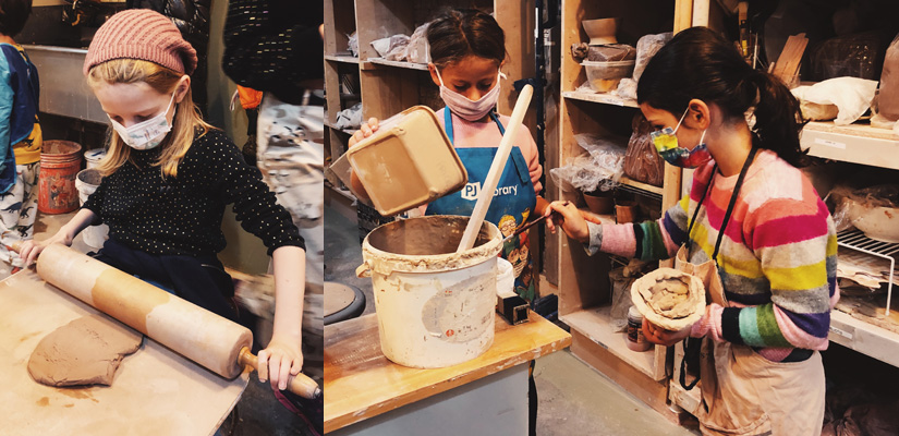 after school kids pottery ceramic program