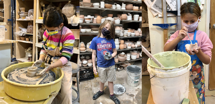 after school kids pottery clay camp